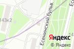 Схема проезда до компании Магазин кондитерских изделий на Есенинском бульваре в Москве