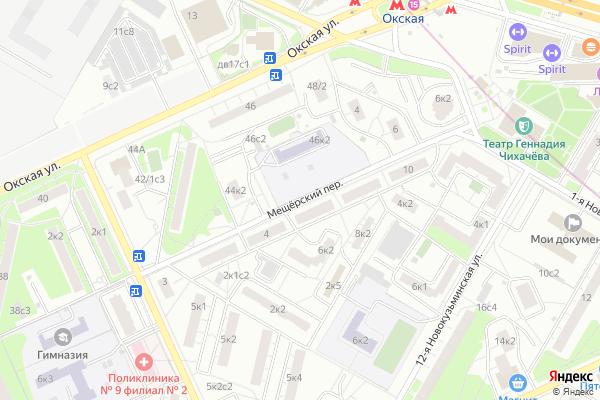 Ремонт телевизоров Мещерский переулок на яндекс карте