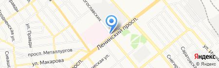 Металлург на карте Донецка