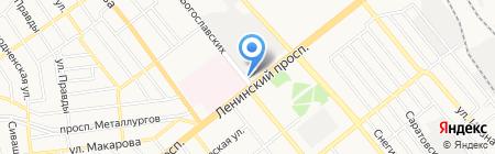 Брусничка на карте Донецка