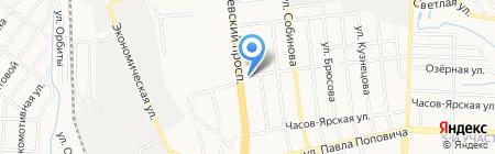Хозяйственный базарчик на карте Донецка