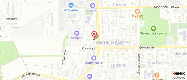 Карта расположения пункта доставки Новороссийск Дзержинского в городе Новороссийск