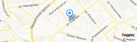 Киоск по продаже морепродуктов на карте Донецка