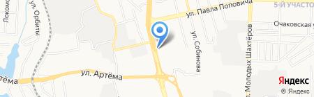 По пути на карте Донецка