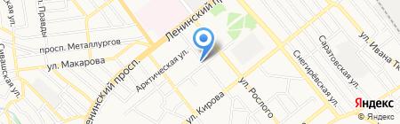 DOMINO на карте Донецка