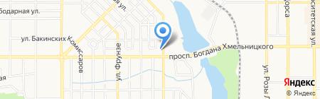 Астрей на карте Донецка