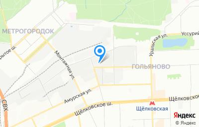 Местоположение на карте пункта техосмотра по адресу г Москва, ул Байкальская, д 1/3 стр 4