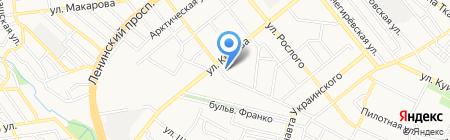 Спектр на карте Донецка