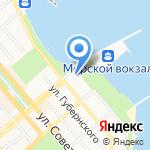 Марина на карте Новороссийска