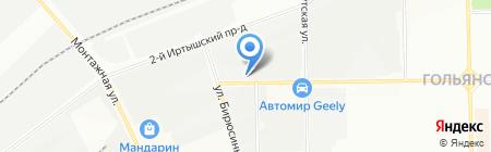 Автокомплекс на карте Москвы