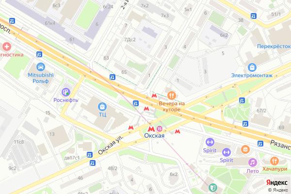 Ремонт телевизоров Рязанский проспект на яндекс карте