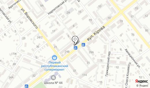 Ковбасна крамниця. Схема проезда в Донецке