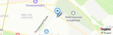 Магазин крепежа и сантехники на карте Москвы