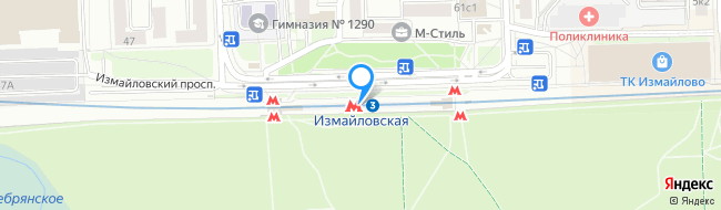 метро Измайловская