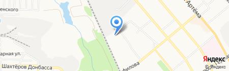 Аист на карте Донецка