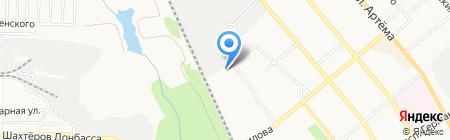 Ника на карте Донецка