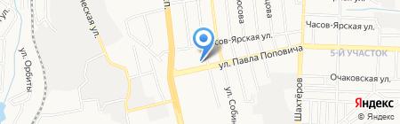 Планета мебели на карте Донецка