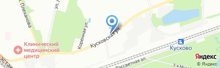 Продукты на карте Москвы