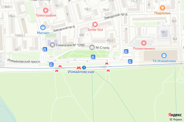 Ремонт телевизоров Измайловский проспект на яндекс карте