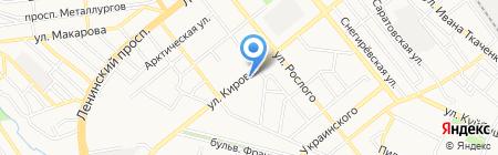 Золотой ключ на карте Донецка
