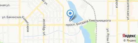 Калинка на карте Донецка