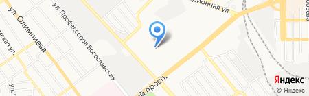 Курочка на карте Донецка