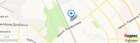 Лилия на карте Донецка