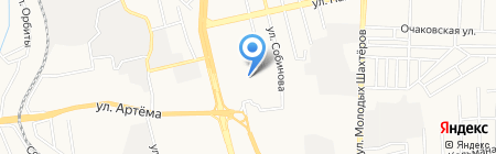 Донснабсбыт на карте Донецка