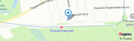 Веста на карте Москвы
