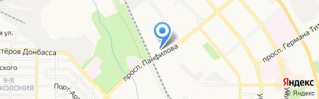 Приватэнерго на карте Донецка
