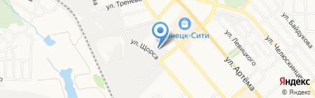 Центр автошина на карте Донецка
