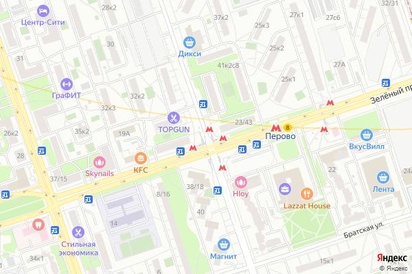 Ремонт телевизоров Улица 2 я Владимирская на яндекс карте
