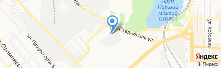 Винтер на карте Донецка
