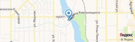 Дубровка на карте Донецка