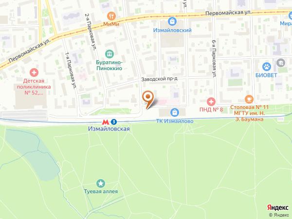 Остановка Метро Измайловская (пос.) в Москве