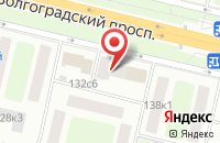 Схема проезда до компании Буква - М15 в Москве