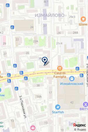 СТРОЙМАРКЕТ ПЕРВОМАЙКА на карте Москвы