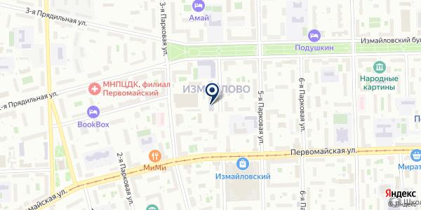 МОСГОСЭНЕРГОНАДЗОР на карте Москве