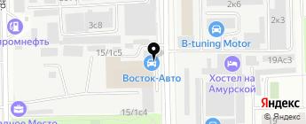 Восток Авто на карте Москвы