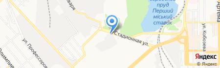 Пингвин на карте Донецка