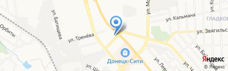 Одиссей на карте Донецка