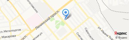 Провита на карте Донецка