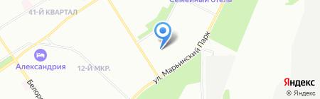Автопарк-Гарант на карте Москвы