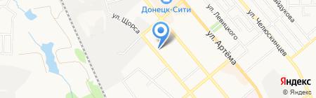 Мегаофис на карте Донецка