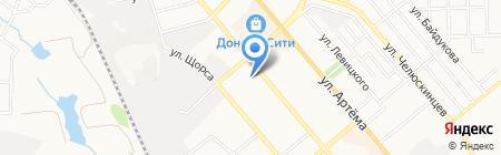 Киоск по продаже фруктов и овощей на карте Донецка