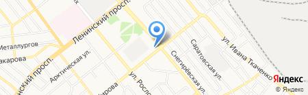 Эдем на карте Донецка