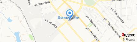 Амстор на карте Донецка