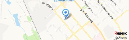 Кристалл на карте Донецка