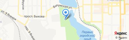 Aquasferra на карте Донецка