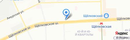 Шаум на карте Москвы